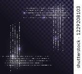 silver dust square frame ... | Shutterstock .eps vector #1229208103
