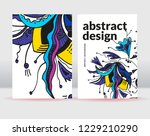 abstract flowers background. it ... | Shutterstock .eps vector #1229210290