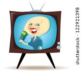 correspondent on the tv | Shutterstock .eps vector #122921398