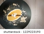 top view of a delicious round ... | Shutterstock . vector #1229223193
