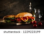 hero shot of freshly prepared... | Shutterstock . vector #1229223199