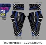 leggings pants for gym | Shutterstock .eps vector #1229235040