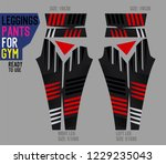 leggings pants for gym | Shutterstock .eps vector #1229235043
