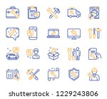 repair car service line icons.... | Shutterstock .eps vector #1229243806