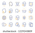 face recognition line icons.... | Shutterstock .eps vector #1229243809