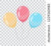 balloon icon. balloons in... | Shutterstock .eps vector #1229263483