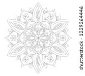 mandala coloring page. adult... | Shutterstock .eps vector #1229264446