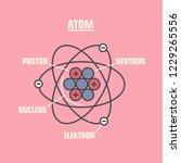 vector science icon model of... | Shutterstock .eps vector #1229265556