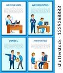 working break of director...   Shutterstock .eps vector #1229268883