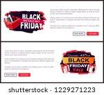 black friday sale off promo... | Shutterstock .eps vector #1229271223