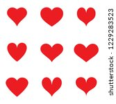 heart icons set isolated on... | Shutterstock .eps vector #1229283523