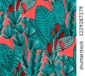 creative seamless pattern with... | Shutterstock . vector #1229287279