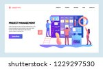 vector web site design template.... | Shutterstock .eps vector #1229297530