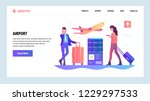 vector web site gradient design ... | Shutterstock .eps vector #1229297533