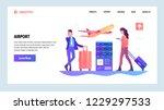 vector web site gradient design ... | Shutterstock .eps vector #1229297533