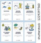vector set of mobile app...   Shutterstock .eps vector #1229297560
