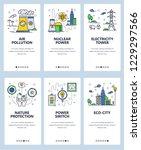 vector set of mobile app... | Shutterstock .eps vector #1229297566