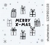 hand drawn illustration of... | Shutterstock .eps vector #1229301133