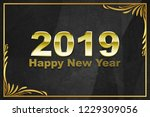 2019 happy new year greeting... | Shutterstock . vector #1229309056