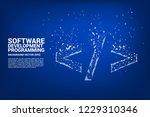 vector polygon software... | Shutterstock .eps vector #1229310346