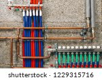 manifold collector with pipes... | Shutterstock . vector #1229315716
