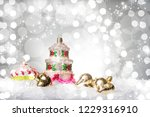 christmas tree decoration with... | Shutterstock . vector #1229316910