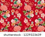 retro gorgeous japanese pattern   Shutterstock .eps vector #1229323639