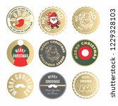 christmas labels and tags... | Shutterstock .eps vector #1229328103