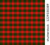 christmas and new year tartan... | Shutterstock .eps vector #1229330389