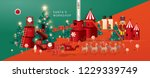 christmas greetings santa's... | Shutterstock .eps vector #1229339749