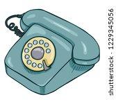 vector cartoon turquoise retro...   Shutterstock .eps vector #1229345056