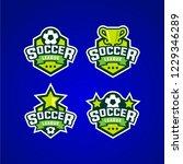 soccer league sport logo emblem ... | Shutterstock .eps vector #1229346289