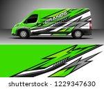 cargo van decal  truck and car... | Shutterstock .eps vector #1229347630