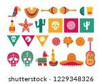 day of the dead skull | Shutterstock .eps vector #1229348326