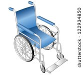 wheelchair vector   Shutterstock .eps vector #122934850