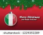 vector border of christmas tree ... | Shutterstock .eps vector #1229352289