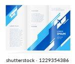 tri fold brochure design... | Shutterstock .eps vector #1229354386