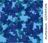 fashion camo design. color... | Shutterstock .eps vector #1229355196