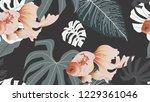 botanical seamless pattern ... | Shutterstock .eps vector #1229361046