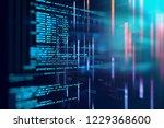 programming code abstract... | Shutterstock . vector #1229368600