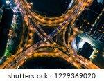 nanjing overpass night aerial... | Shutterstock . vector #1229369020