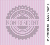 non resident badge with pink... | Shutterstock .eps vector #1229370046