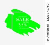 sale 35  off sign over art...   Shutterstock .eps vector #1229371750
