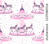 Pink Merry Go Round Seamless...