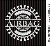 airbag silver shiny badge | Shutterstock .eps vector #1229386786