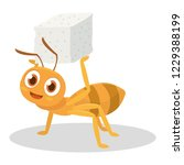 ant bring the sugar after look... | Shutterstock .eps vector #1229388199