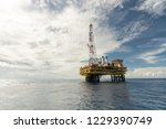 oil and gas platform   Shutterstock . vector #1229390749