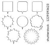many kinds of comic speech... | Shutterstock .eps vector #1229393623