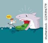 greedy businessman running to...   Shutterstock .eps vector #1229396779