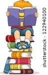 Illustration Of A Boy Reading ...